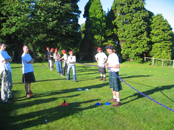 Mini Highland games edinburgh