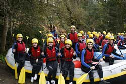 rafting in Edinburgh Stag Weekend