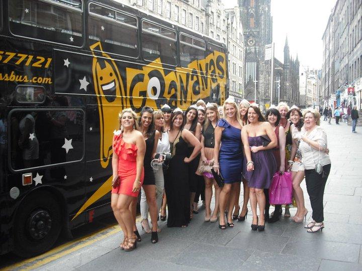 hen party Edinburgh party Bus
