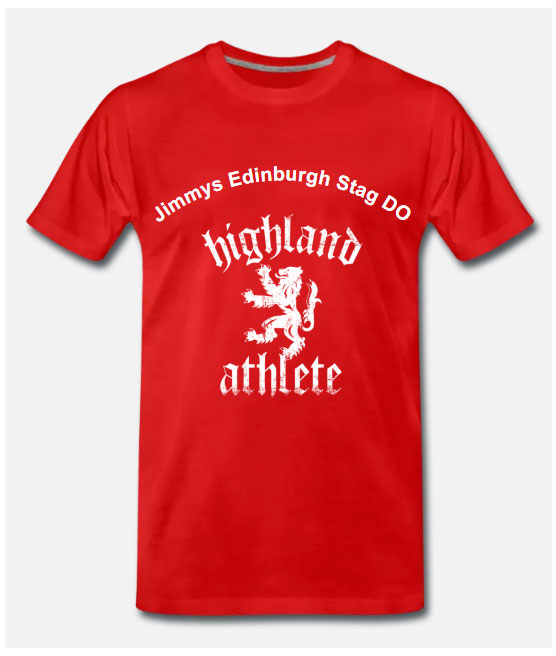 Edinburgh Stag Do T shirts